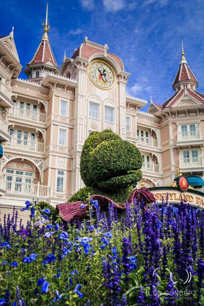 In front of the Disneyland Hotel